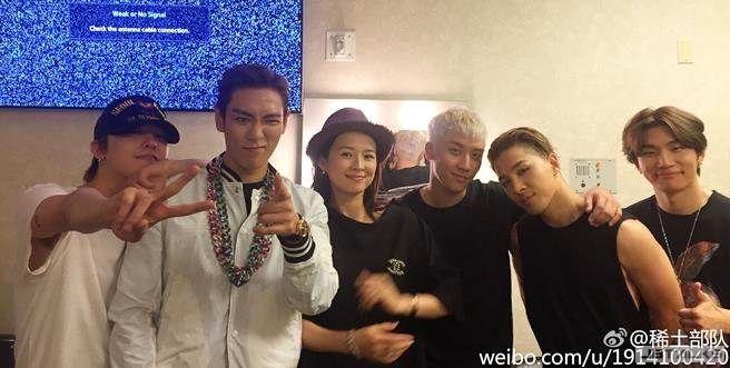 疑孕?章子怡與BIGBANG合照 肚子以下不給看