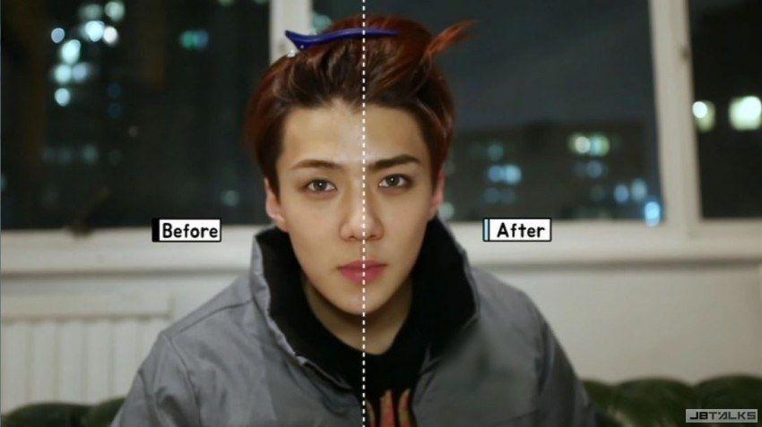 「天生帶妝」的男子EXO世勳,來看看他的妝前、妝後!