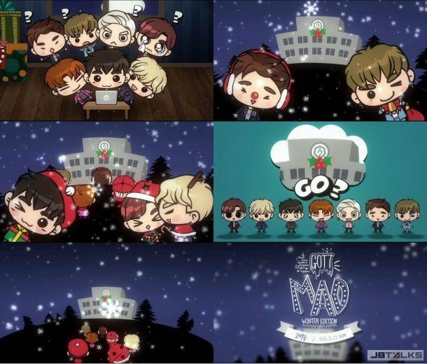 GOT7公開新歌《告白SONG》預告片 卡通形象化身聖誕老人
