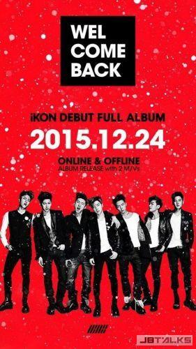 眾所期待的iKON 聖誕夜推首張正規專輯