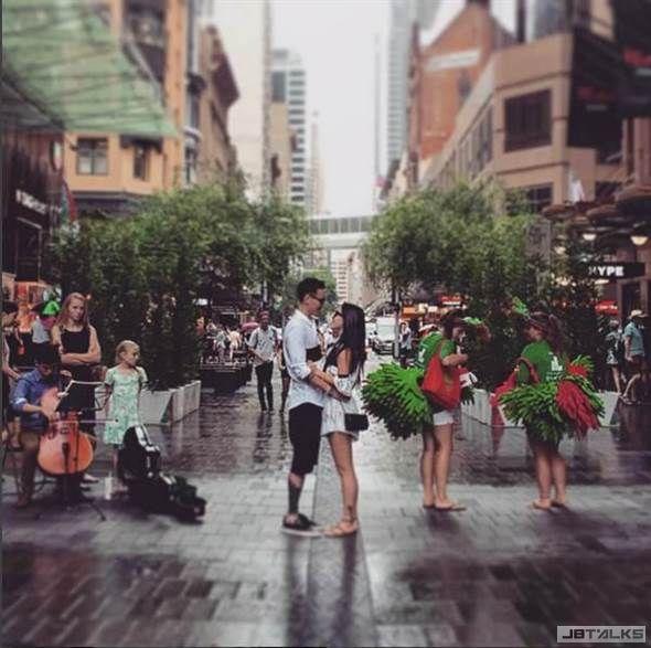 澳洲婚照曝光!王陽明雨中凝視蔡詩芸超浪漫
