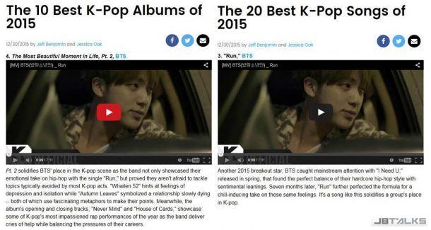 防彈少年團專輯單曲齊入選Billboard年度K-POP榜