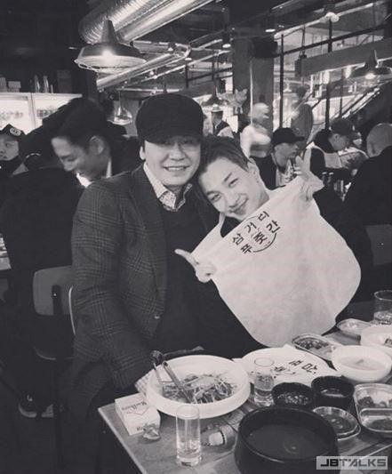 BIGBANG演唱會後到楊社長家的烤肉店聚餐啦!