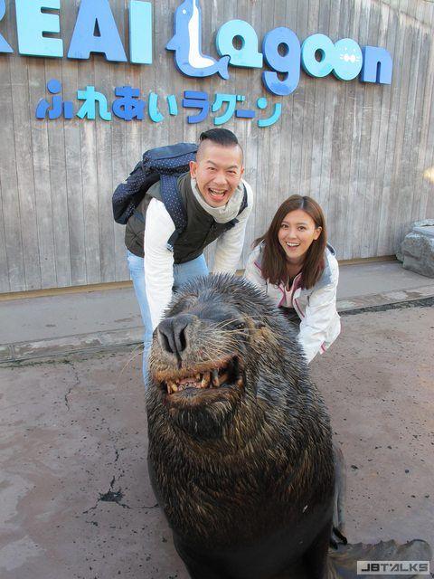 卓文萱新年第一吻 海獅霸氣強親