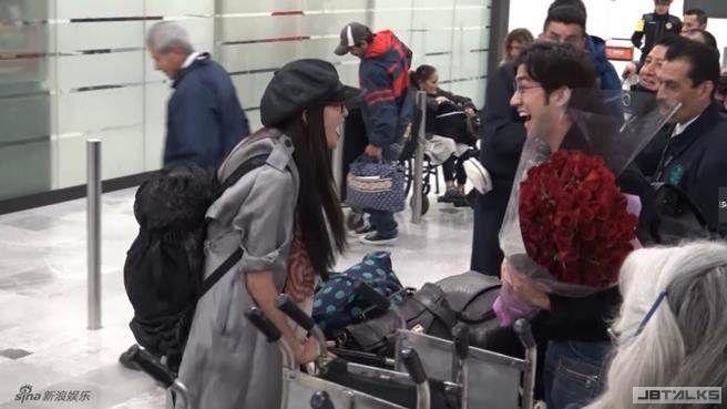 林志玲機場尖叫 范冰冰前男友抱緊喊「我老婆」