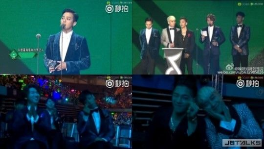 BIGBANG 2016QQ音樂盛典四冠王 果然人氣也是BIGBANG