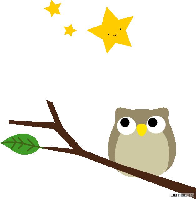 望着天空的猫头鹰